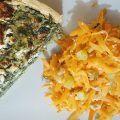 Spinatquiche mit Möhrensalat Quiche mit Spinat